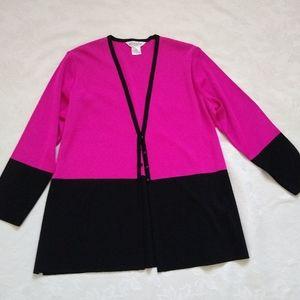NWOT Misook knit two-tone jacket cardigan